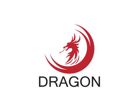 Dragon icon template Иллюстрация