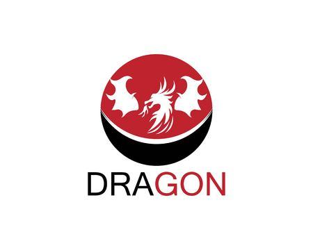 Dragon icon template Illusztráció