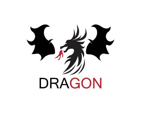 Dragon icon template  イラスト・ベクター素材