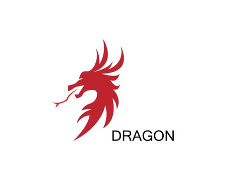 Dragon icon template Stock fotó - 117434718