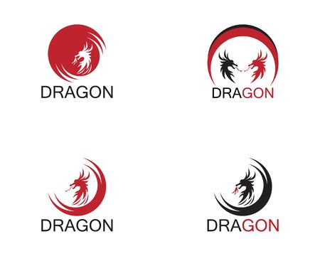 Dragon icon template Çizim