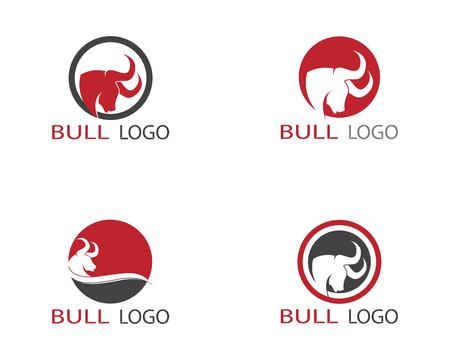 Bull head logo template vector