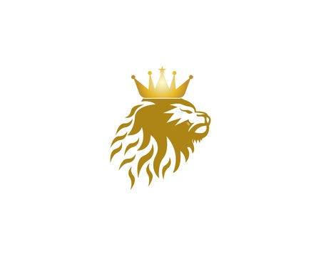 Lion king icon template vector