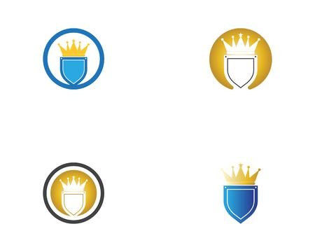 Crown shield icon template