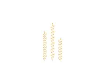 Rice wheat icon logo template Çizim