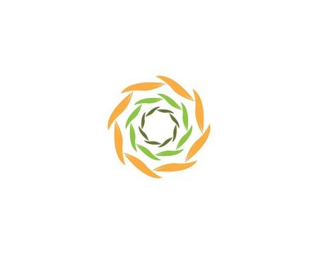 Vortex leaf icon business