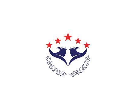 Falcon eagle bird logo template vector icon