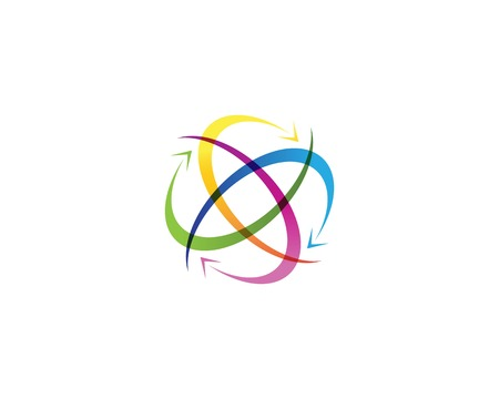 Circle arrows business icon template Illustration