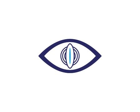 Eye care health logo design vector