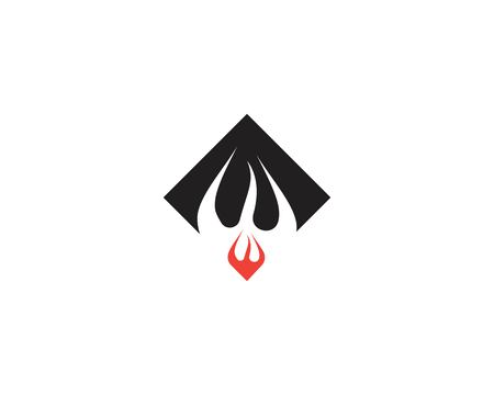 Fire flame icon vector illustration Illustration