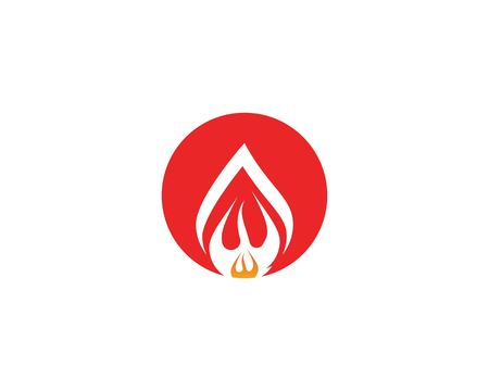 Fire flame icon vector illustration Ilustrace