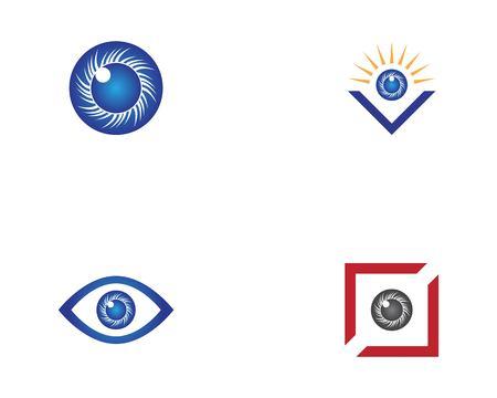 Eye care health logo design vector