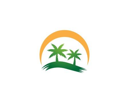 Palm tree summer icon