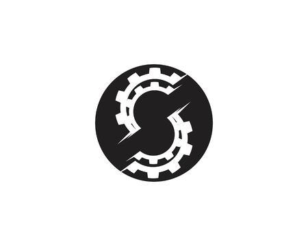 Gear icon logo design vector template Stock Illustratie
