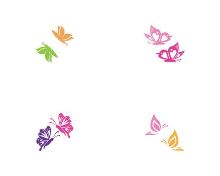 Butterfly icon and symbol template