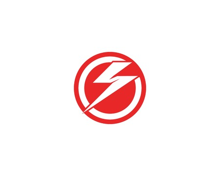 Lightning flash icon template