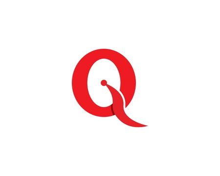 Q letter icon logo template