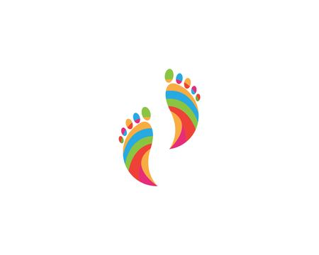 Reflexology foot icon vector illustration Vettoriali