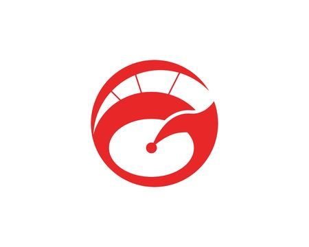 Faster speed icon template Illustration