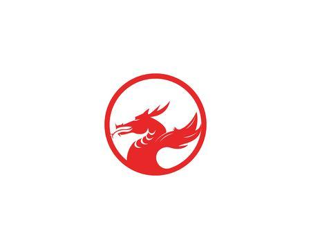 Dragon head icon vector illustration Illusztráció