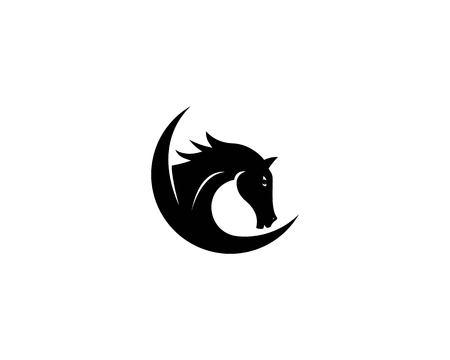 Horse head icon vector illustration Çizim