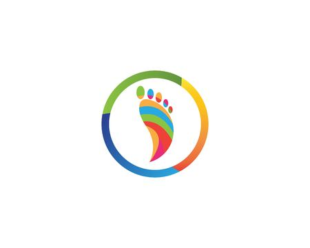 Foot relaxation icon vector illustration