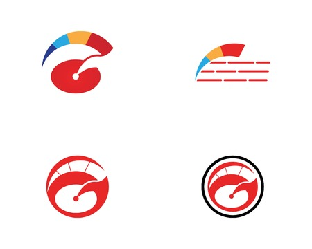Faster speed logo design concept Illustration