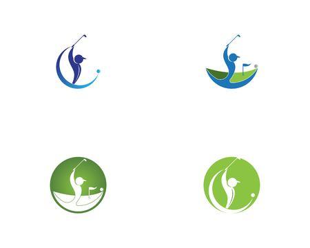 Menschen Golf Symbol Vektor-Illustration