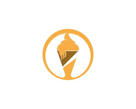 Frozen yogurt or cup of ice cream icon.Vector illustration