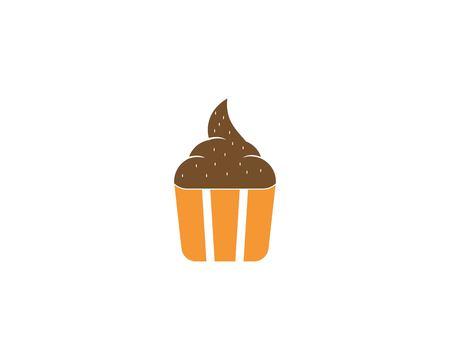 Illustrazione vettoriale dell'icona della torta della tazza