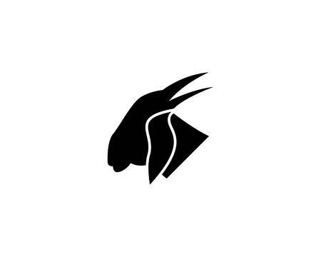 Goat head logo design vector illustration Illustration