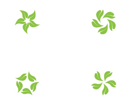 Nature leaf logo template