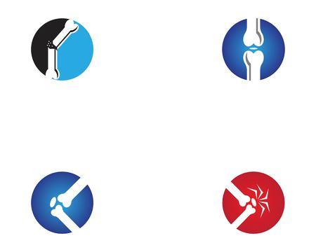 Modèle de vecteur d'icône d'os