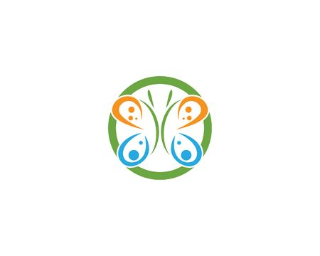 Butterfly icon vector template