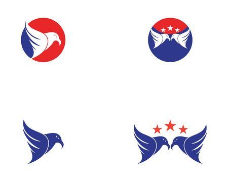Falcon eagle logo design template