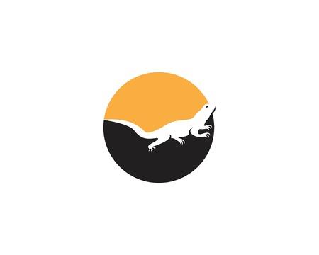 Lizard icon vector illustration