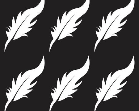 Feather pen icon and symbol