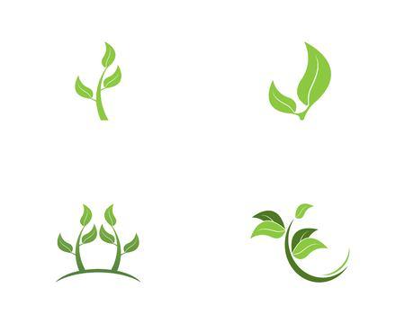Nature plant icon and symbol vector Ilustracja