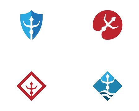 Trident logo template Vettoriali
