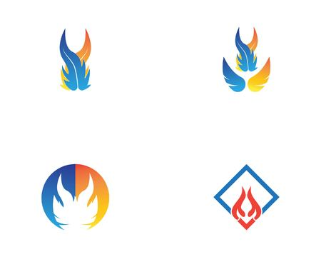 Fire flame logo template vector illustration