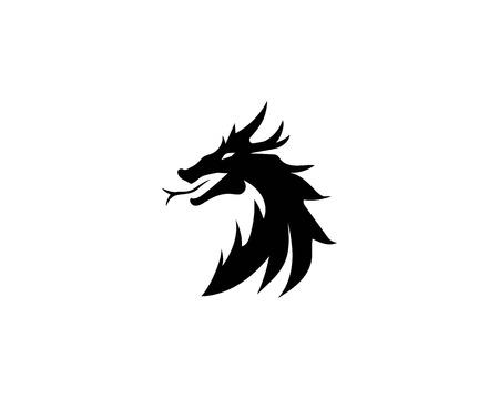 Head dragon logo vector illustration