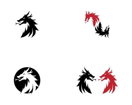 Dragon head logo vector