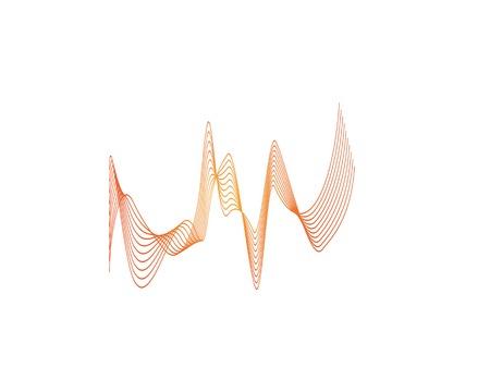 Sound wave icon logo design vector  Иллюстрация