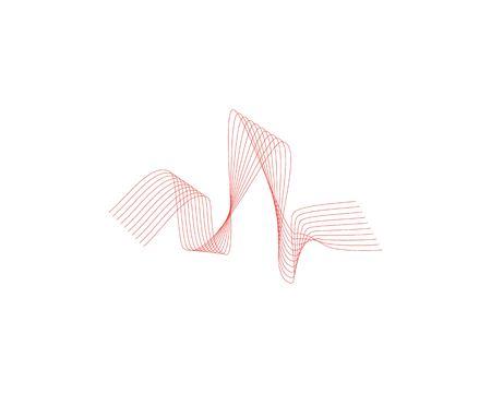 Sound wave icon logo design vector