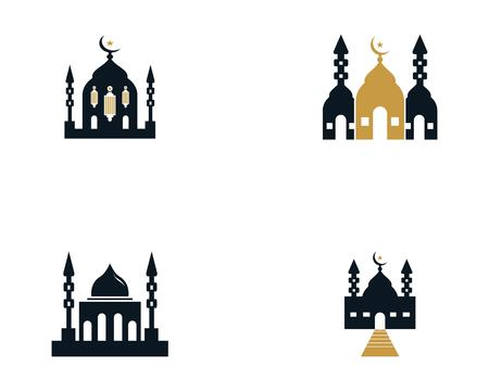 Mosque moslem icon vector design illustration