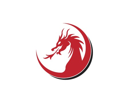 Dragon logo vector illustration Illusztráció