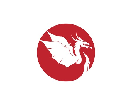 Dragon logo vector illustration Illustration