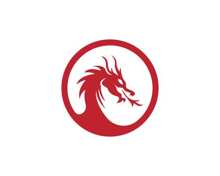 Dragon logo vector illustration 일러스트