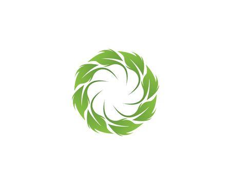 Green leaf logo vector Ilustracja