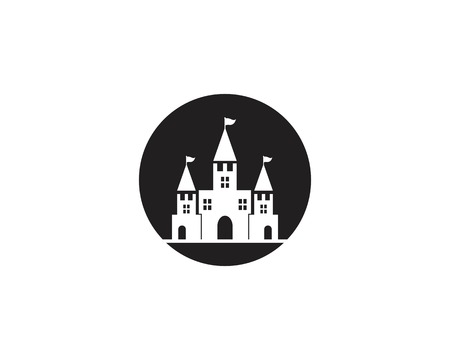 Castle icon vector illustration Illusztráció